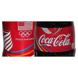 Rio Olympic Games 2016 Aluminum and Glass Pair US Coca-Cola Bottles