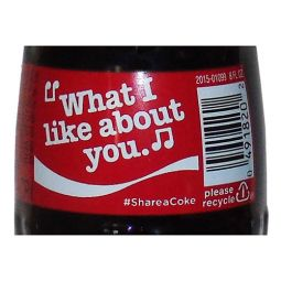 Share a Coke and a Song Music Glass Bottle - What I Like About You