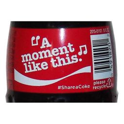 Share a Coke and a Song Music Glass Bottle - A Moment Like This