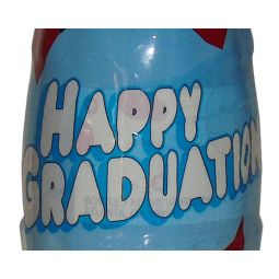 Happy Graduation Wrapped Coca-Cola Bottle (Blue)