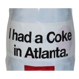 I had a Coke in Atlanta Wrapped Coca-Cola Bottle