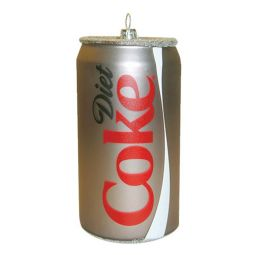 Kurt Adler Diet Coke Can Glass Ornament 4.75 Inch
