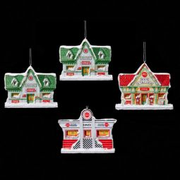 Kurt Alder Coca-Cola Holiday Village Assortment of 4 Ornaments