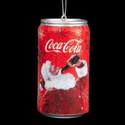 Kurt Adler Coca-Cola Santa Can Ornament